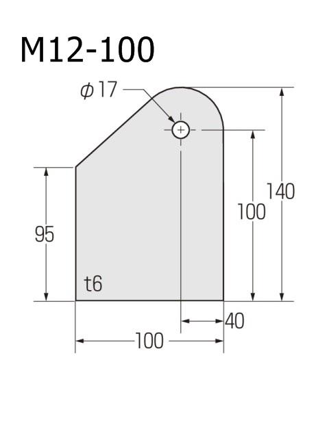 ブレースシート コーナープレート 穴径φ17 (ケース販売)