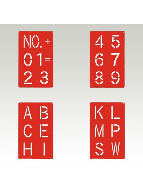 スプレーシート 数字・記号 文字高100�  4枚組