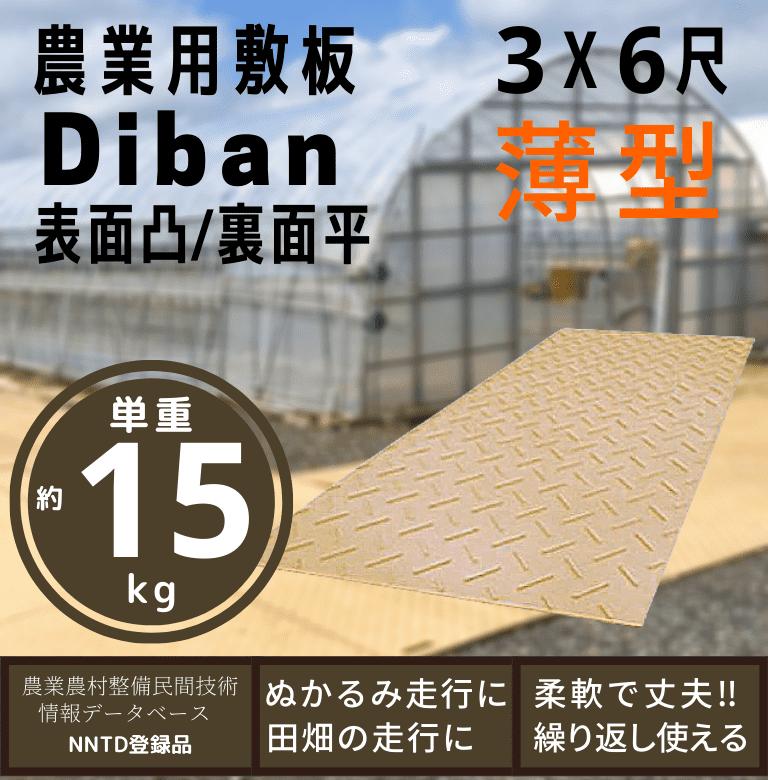 養生敷板 Diban 3尺X6尺 片面凸