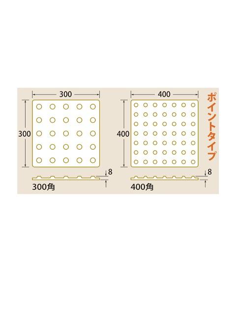 点字パネル 300角 ポイントタイプ (ラバータイプ合成ゴム)