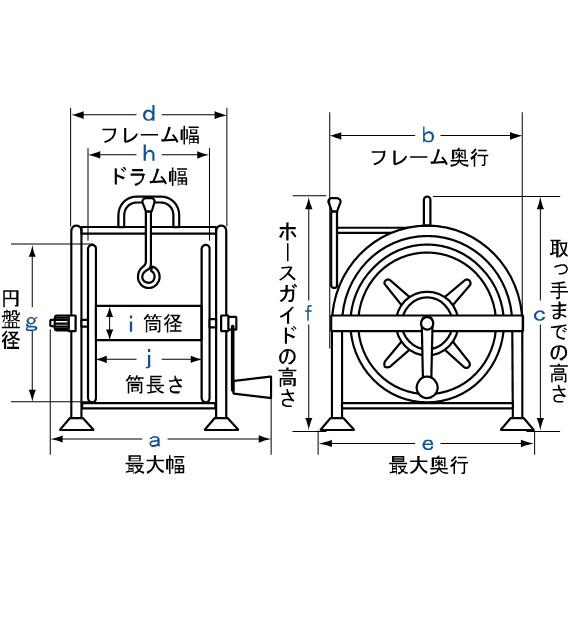 6分用ホースリール THR-50G