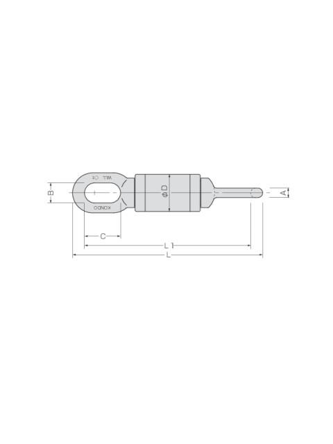KTスイベル KBS型 (ワイヤロープ用ベアリングスイベル)