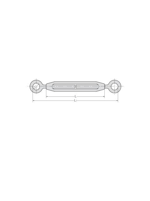 ステン 枠式ターンバックル 両オーフ(TB-E/E)