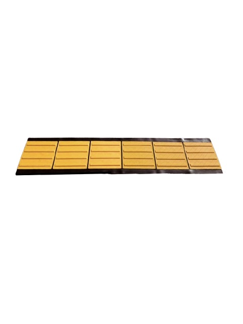 点字マット(折り畳み式) 300角 6枚X1列 ラインタイプ
