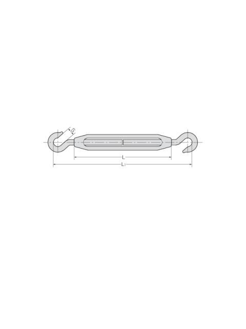ステン 枠式ターンバックル 両ハッカー(TB-H/H)