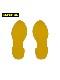 5Sフロア表示ステッカー(足型) 10セット(20枚)