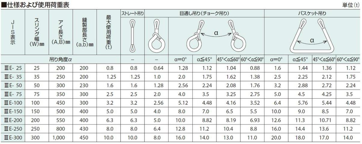 特注品 ベルトスリング 25mm アイ型(パワースリング KP-1型) ※長さ12m品2本