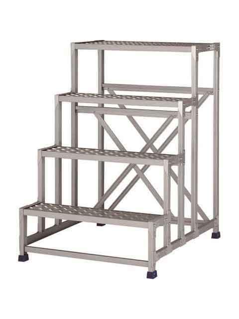 作業台(天板縞板タイプ) 4段 CSBC 天板高さ 1200mm CSBC-4128S