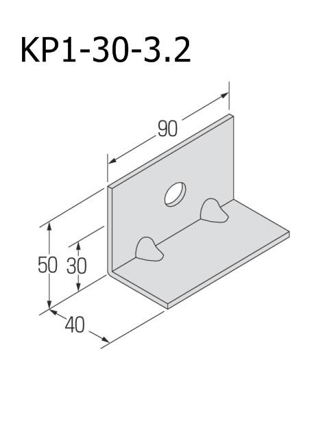 自立コンピース(一つ穴) 板厚3.2mm (ケース販売)