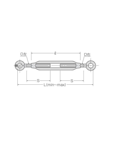 枠式ターンバックル(両オーフ)