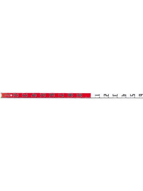 ペタロッドエコ 縦数字 赤白1m間隔