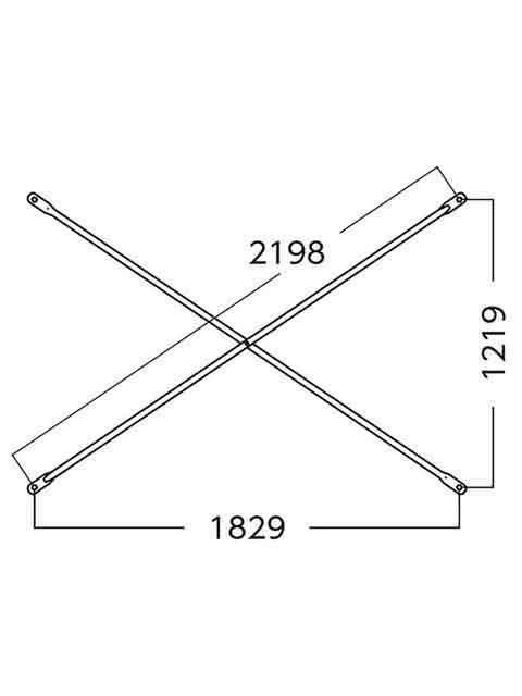 ローリングタワー(移動式足場) RT用 交さ筋かい X1812