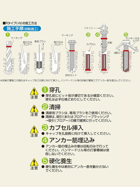 ケミカルアンカー Rタイプ(標準)