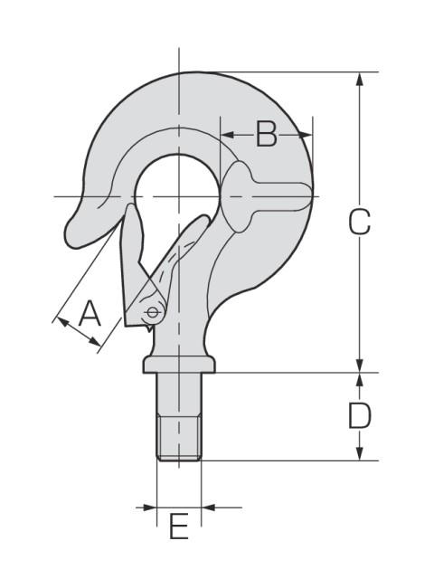 アルプス印滑車《強力型》スナッチブロック フック式