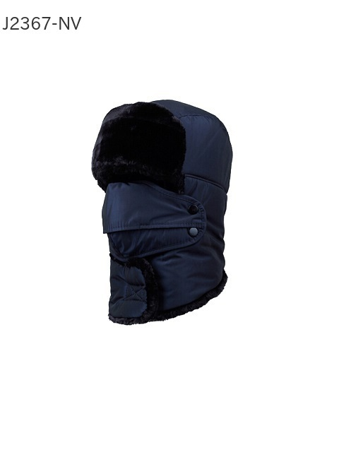 防寒帽子マスク付き