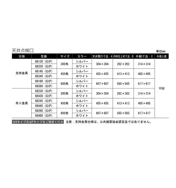 天井点検口 68145(G)