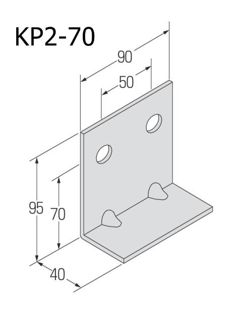 自立コンピース(二つ穴) 板厚4.5mm (ケース販売)