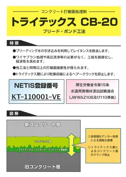 コンクリート処理剤 トライテックス CB-20
