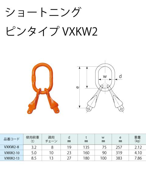 チェーンスリング 2本吊り ファンドリーフック付 S-WP5  長さ調整可能