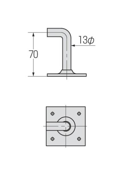 ユ型金物 t3.2×100×100