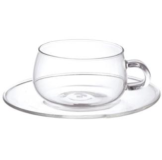 KINTO UNITEA ガラスカップ&ソーサー 2個セット