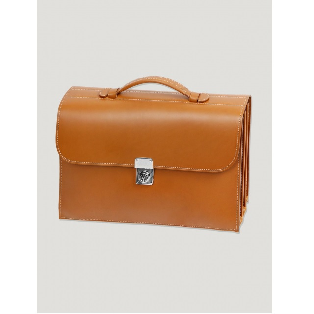 SLIM BRIEFCASE TAN
