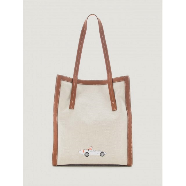 CANVAS CITY TOTE with CAR PRINT