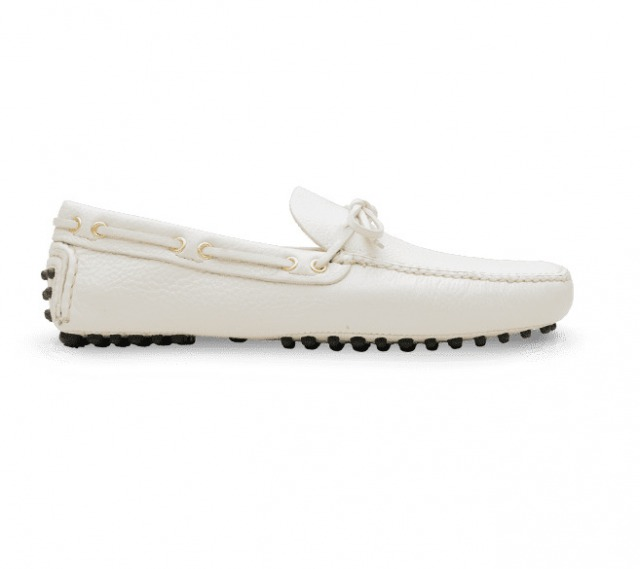 DRIVING SHOES GRAINED CALF WHITE