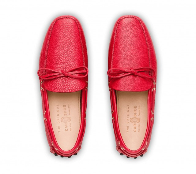 DRIVING SHOES GRAINED CALF RED