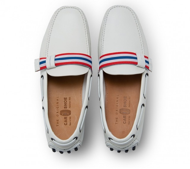 DRIVING SHOES SOFT CALF WHITE