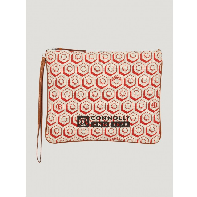 FLAT PRINTED POUCH (L) RED