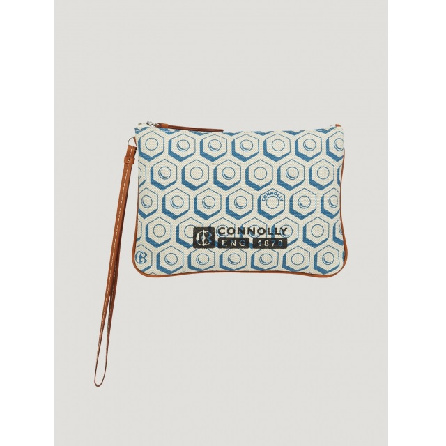 FLAT PRINTED POUCH (S) BLUE