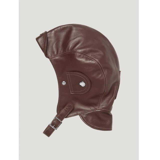 LEATHER HELMET BROWN