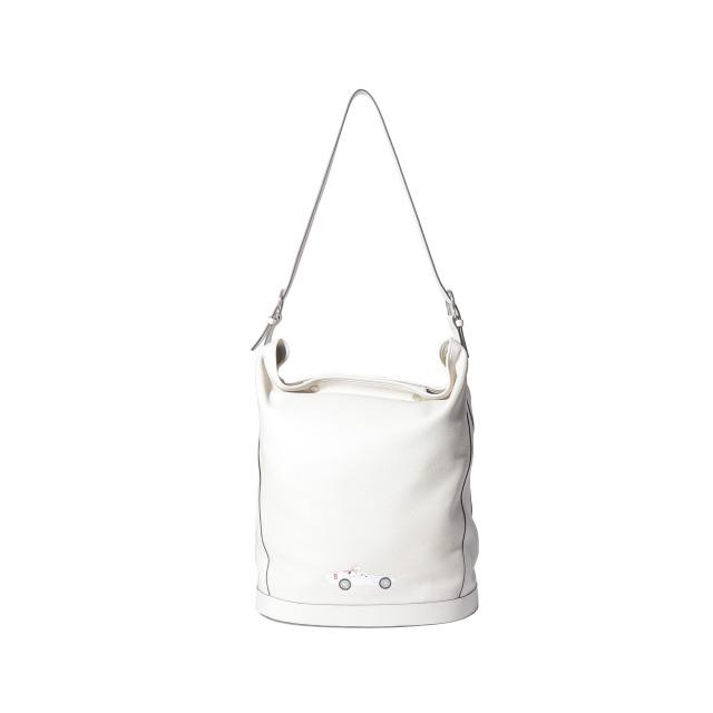 DUFFLE BAG WHITE with CAR PRINT