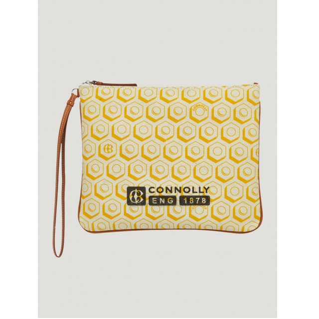 FLAT PRINTED POUCH (L) YELLOW
