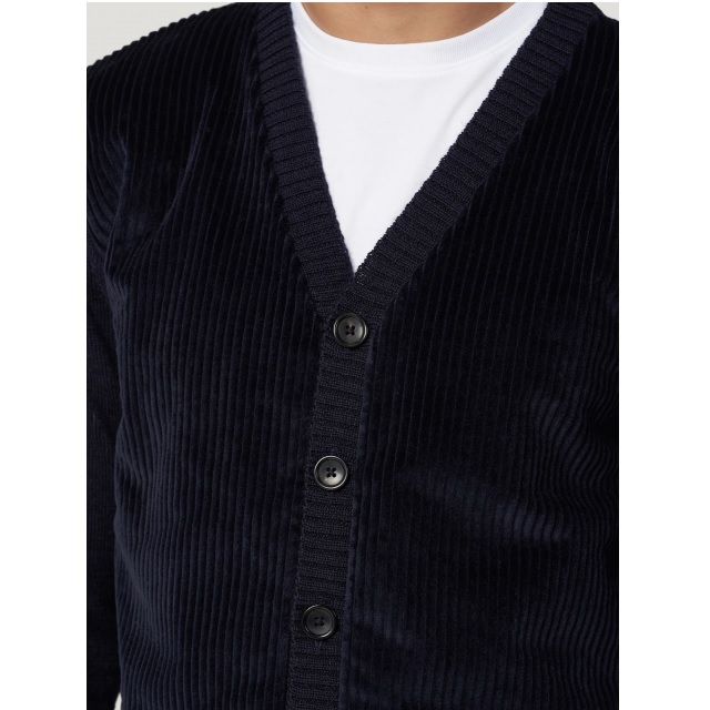 CORD FRONT CARDIGAN
