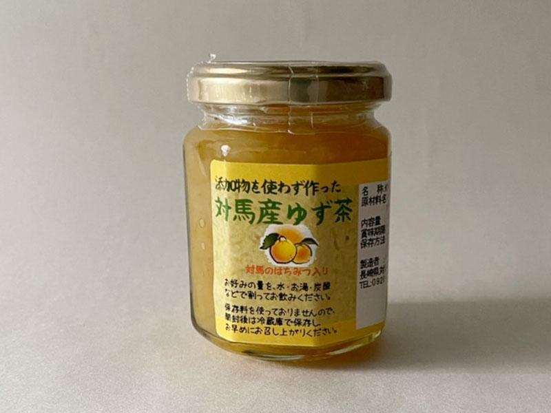 添加物を使わず作った ゆず茶 140g (貴重な対馬産蜂蜜入り)