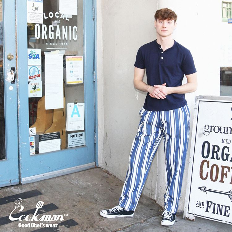 シェフパンツ Chef Pants Awning Stripe Navy