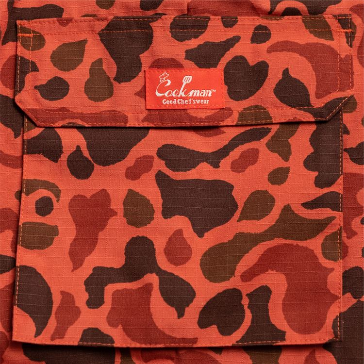 Chef Cargo Pants 「Ripstop」 Camo Red (Duck Hunter)