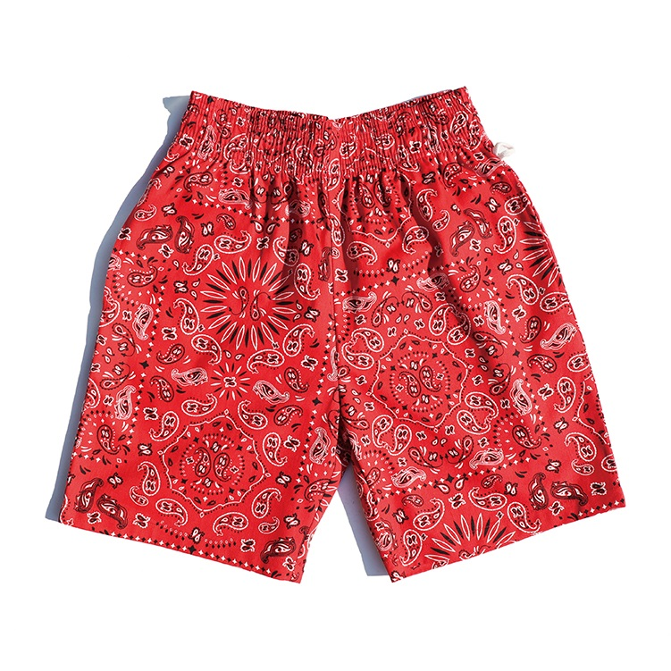 Chef Short Pants 「Paisley」 Red