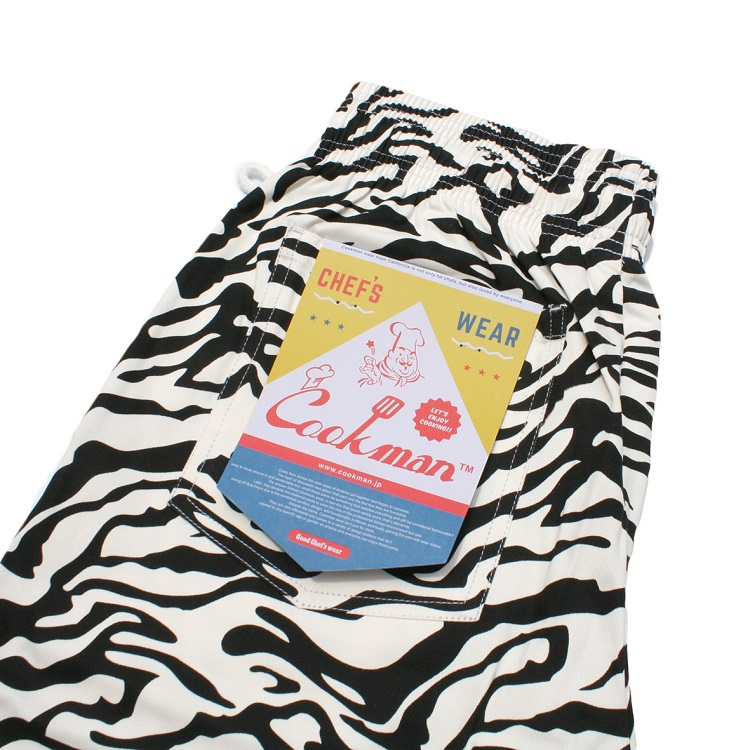 シェフパンツ Chef Pants Short Zebra