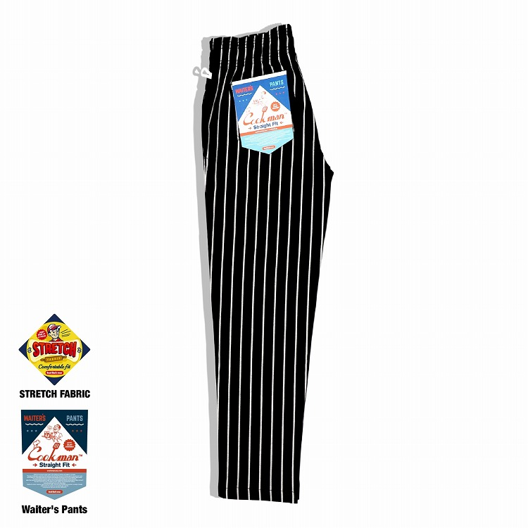 ウェイターズパンツ Waiter's Pants Stripe Black