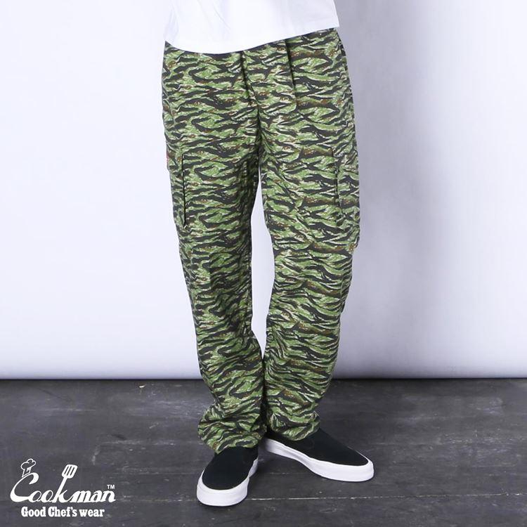 シェフパンツ Chef Pants Cargo Ripstop Camo Green (Tiger)