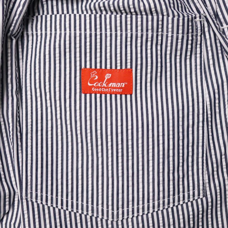 シェフパンツ Chef Pants Short Seersucker Stripe Navy