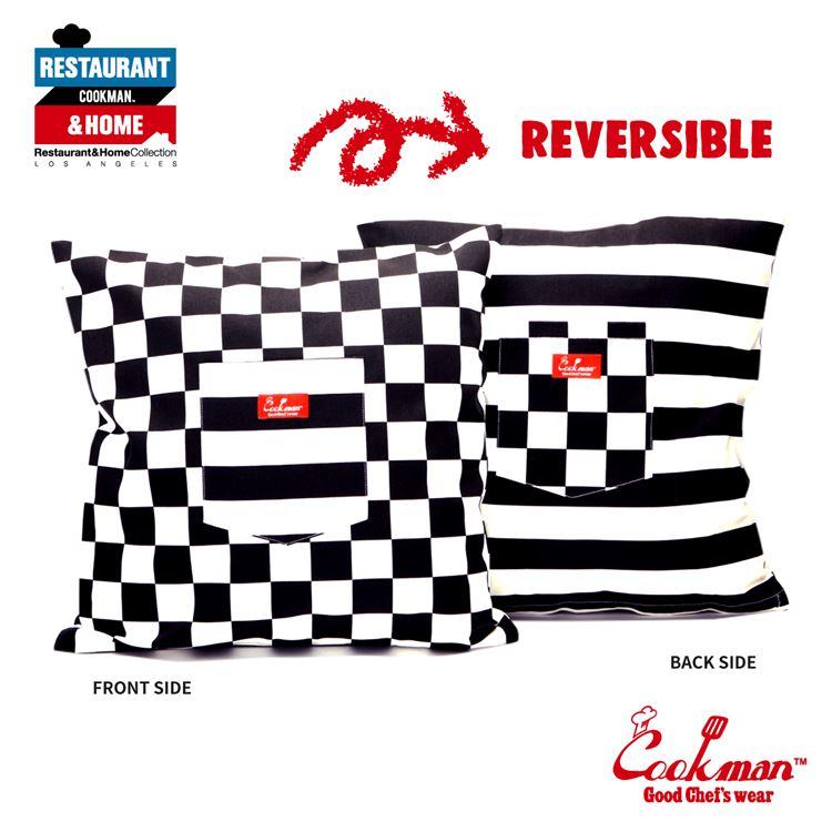 Cushion Pocket Cover Reversible 「Checker & Border」