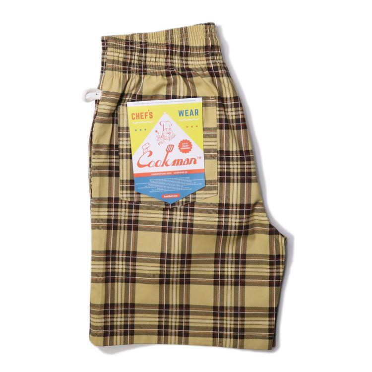 シェフパンツ  Chef Pants Short Tartan Beige