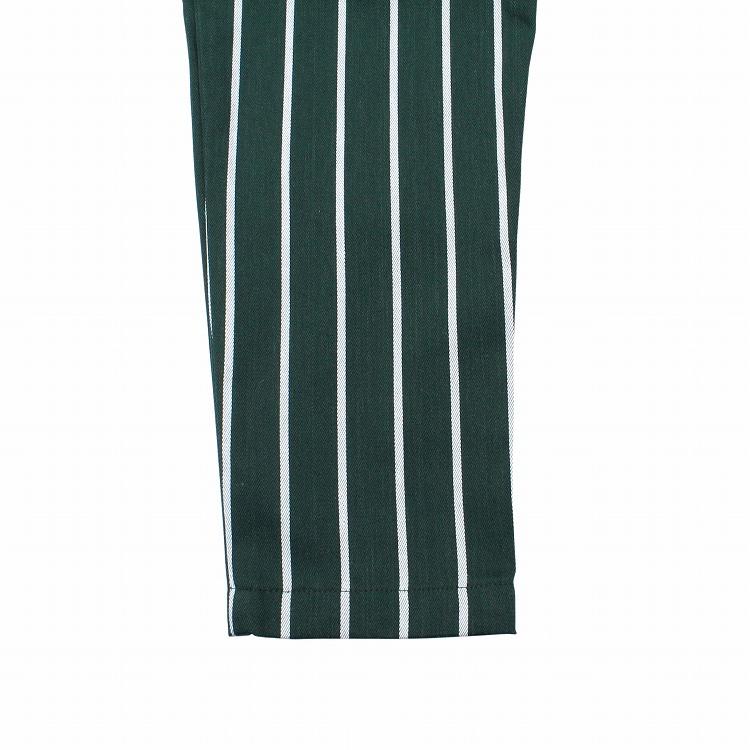 Chef Pants Kids 「Stripe」 DARK GREEN