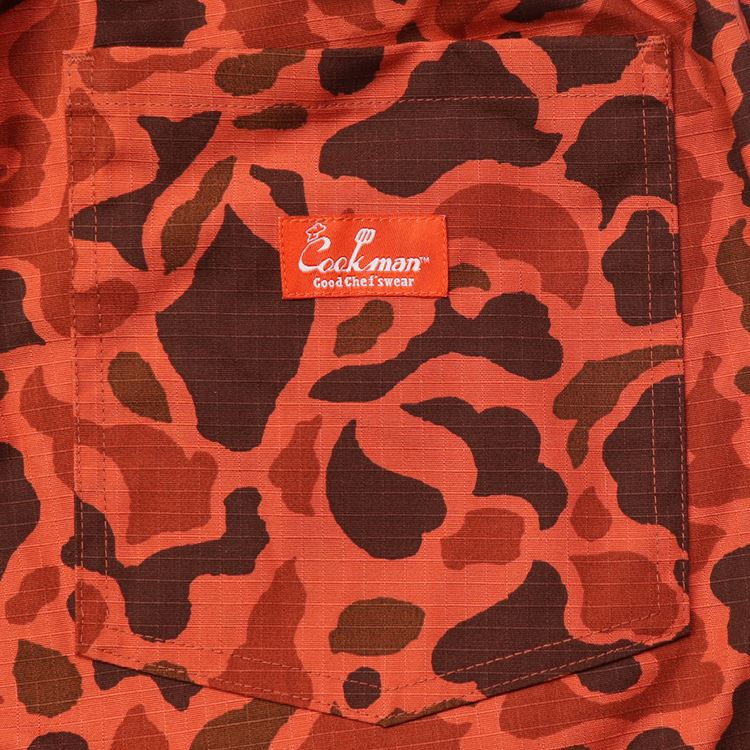 シェフパンツ Chef Pants Short Ripstop Camo Red (Duck Hunter)