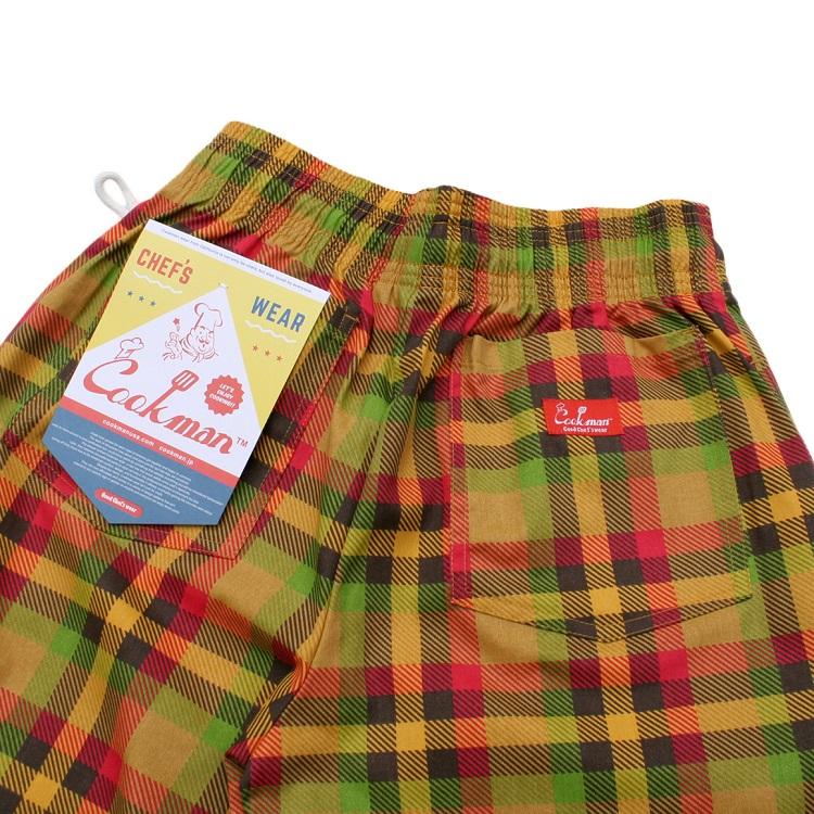 シェフパンツ Chef Pants Short Burger Check