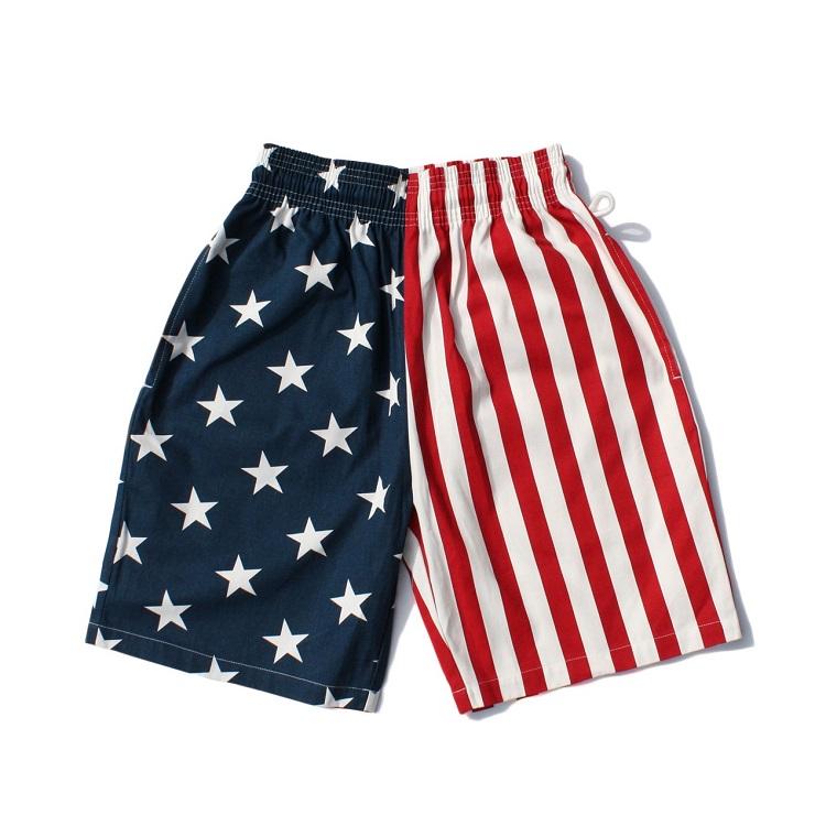 シェフパンツ Chef Pants Short Crazy Pattern U.S.A. 【2点以上購入プレゼント対象】